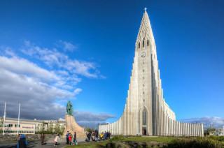 The Church of Hallgrimur Reykjavik Iceland