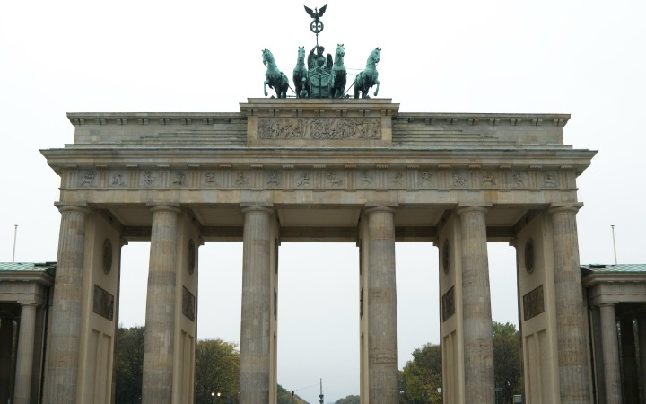 Historic Brandenburg Gate in Berlin Germany
