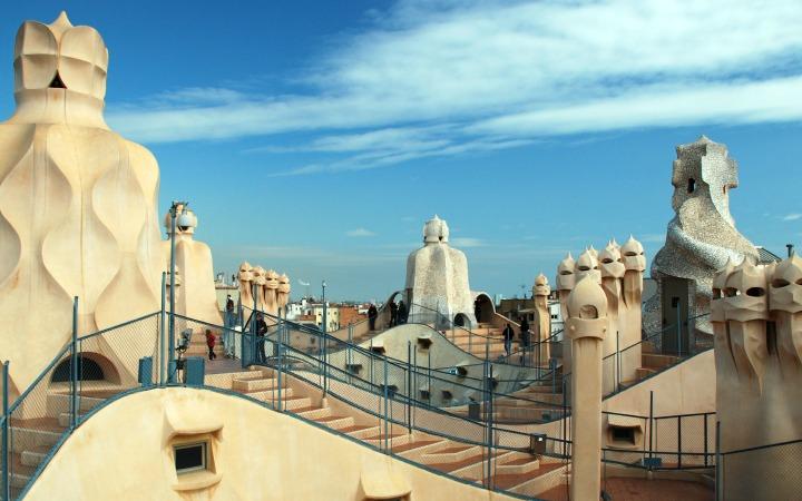 Antonio Gaudi Casa Mila, Barcelona